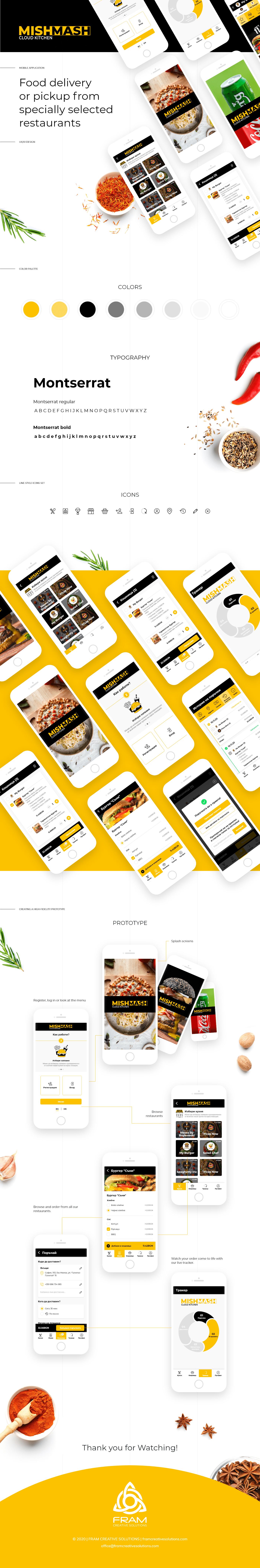 application branding  delivery Food  UI ux ux/ui
