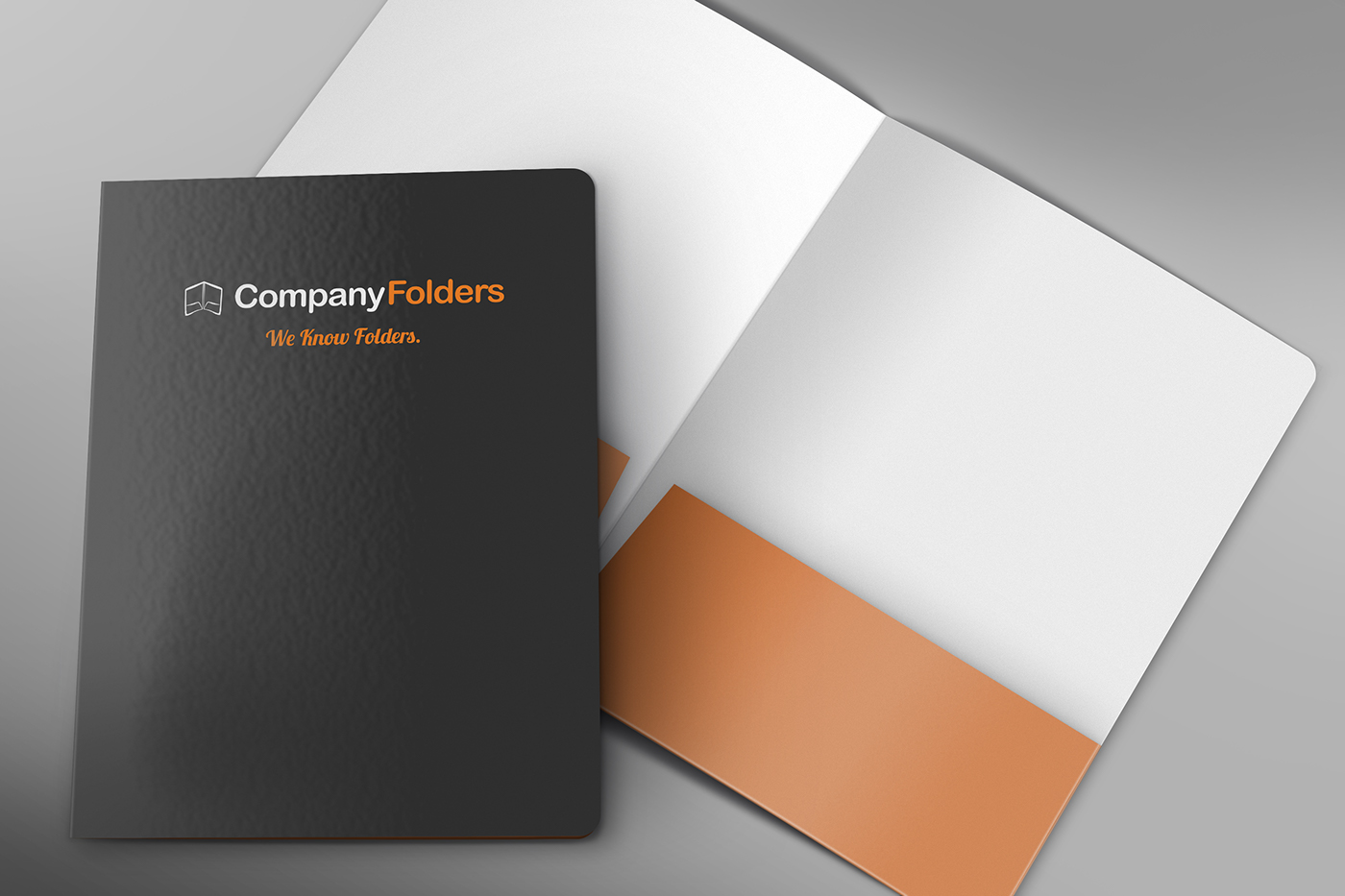 free psd  front cover  u0026 open folder mockup template on