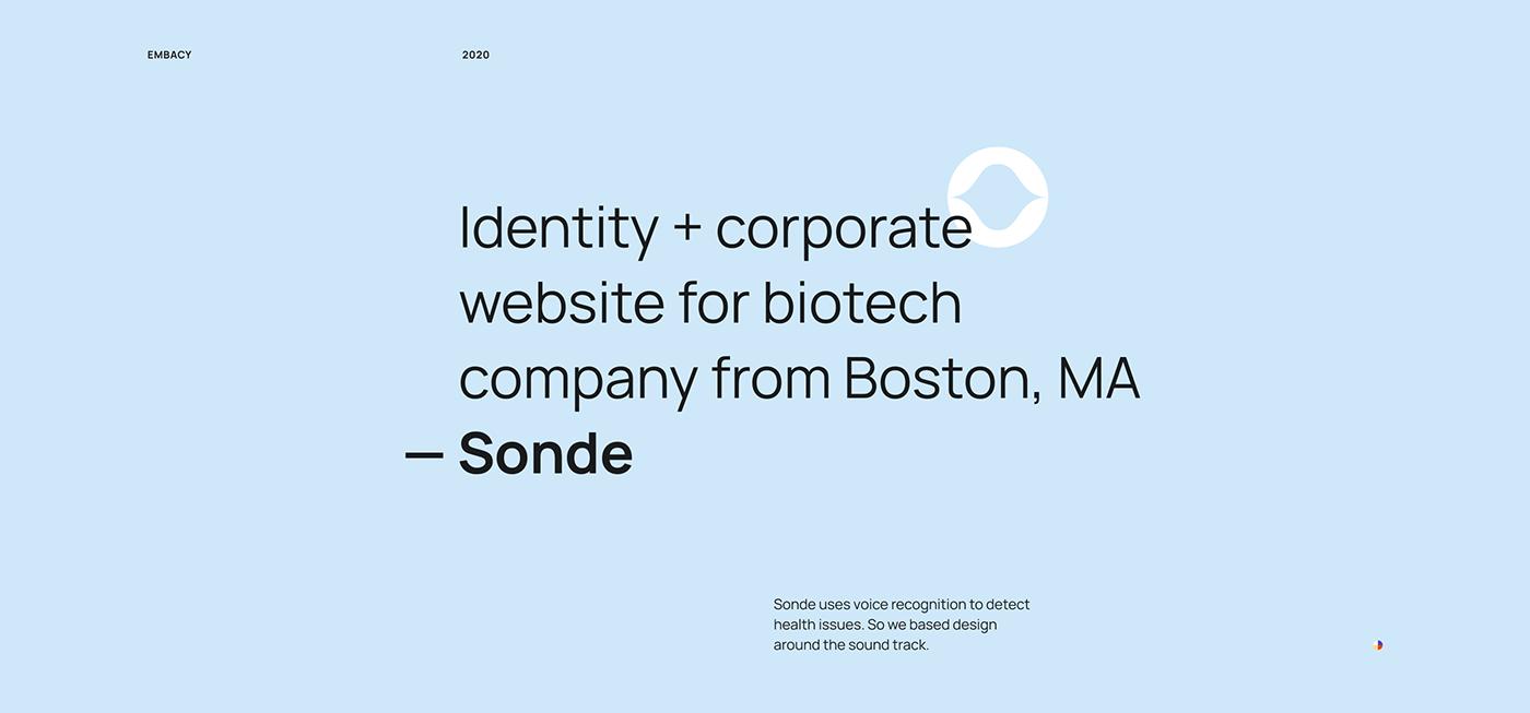 biotech sound IT Startup boston landing page main page Website