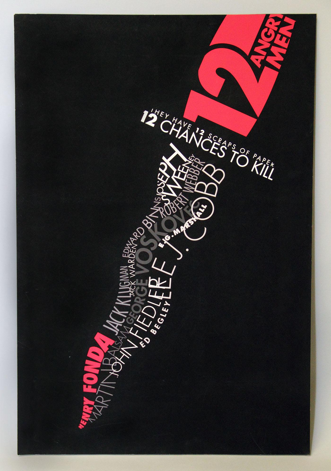 Twelve Angry Men Typography Movie Poster On Behance