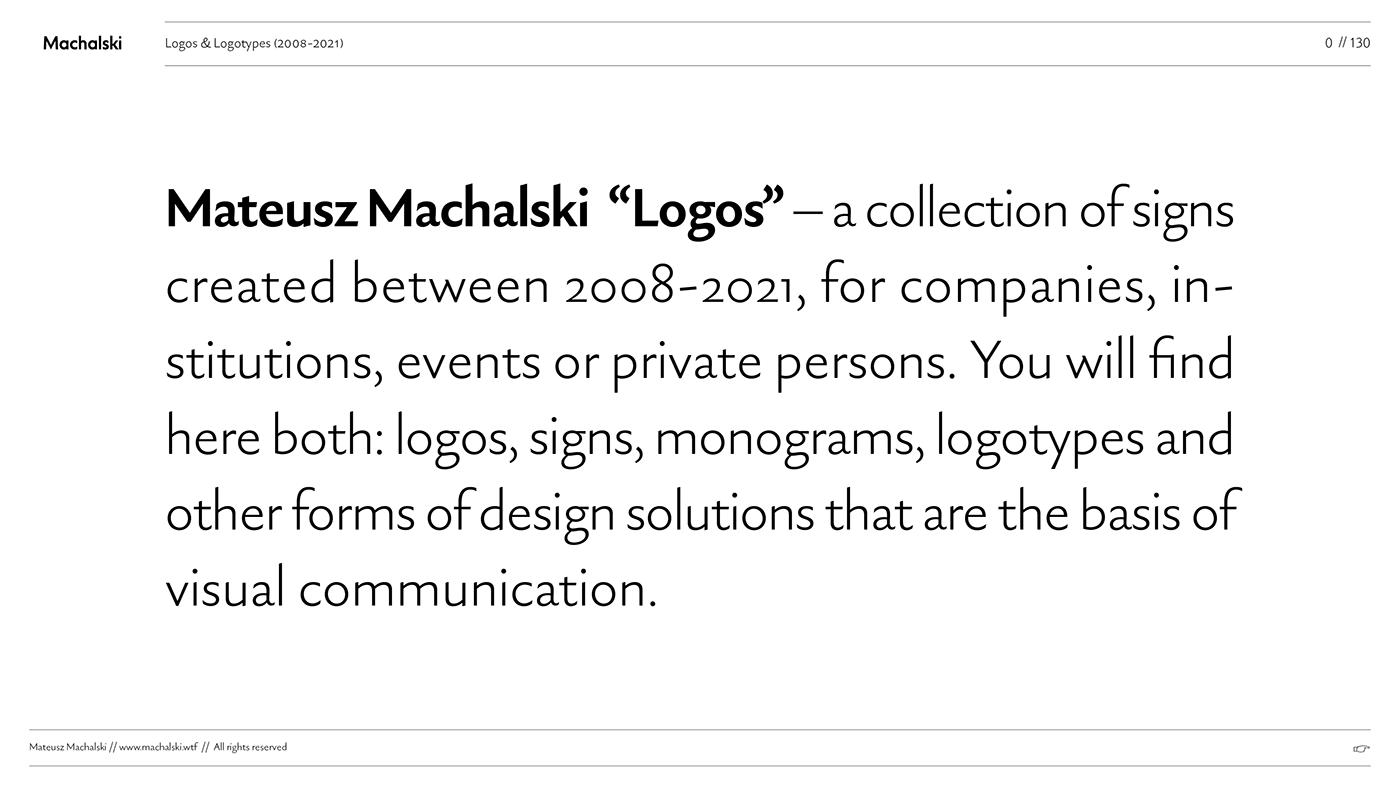 MACHALSKI logo collection branding  letter logo logo set logotypes collection SIGN COLLECTION typography logo TYPOGRAPHY SIGNS