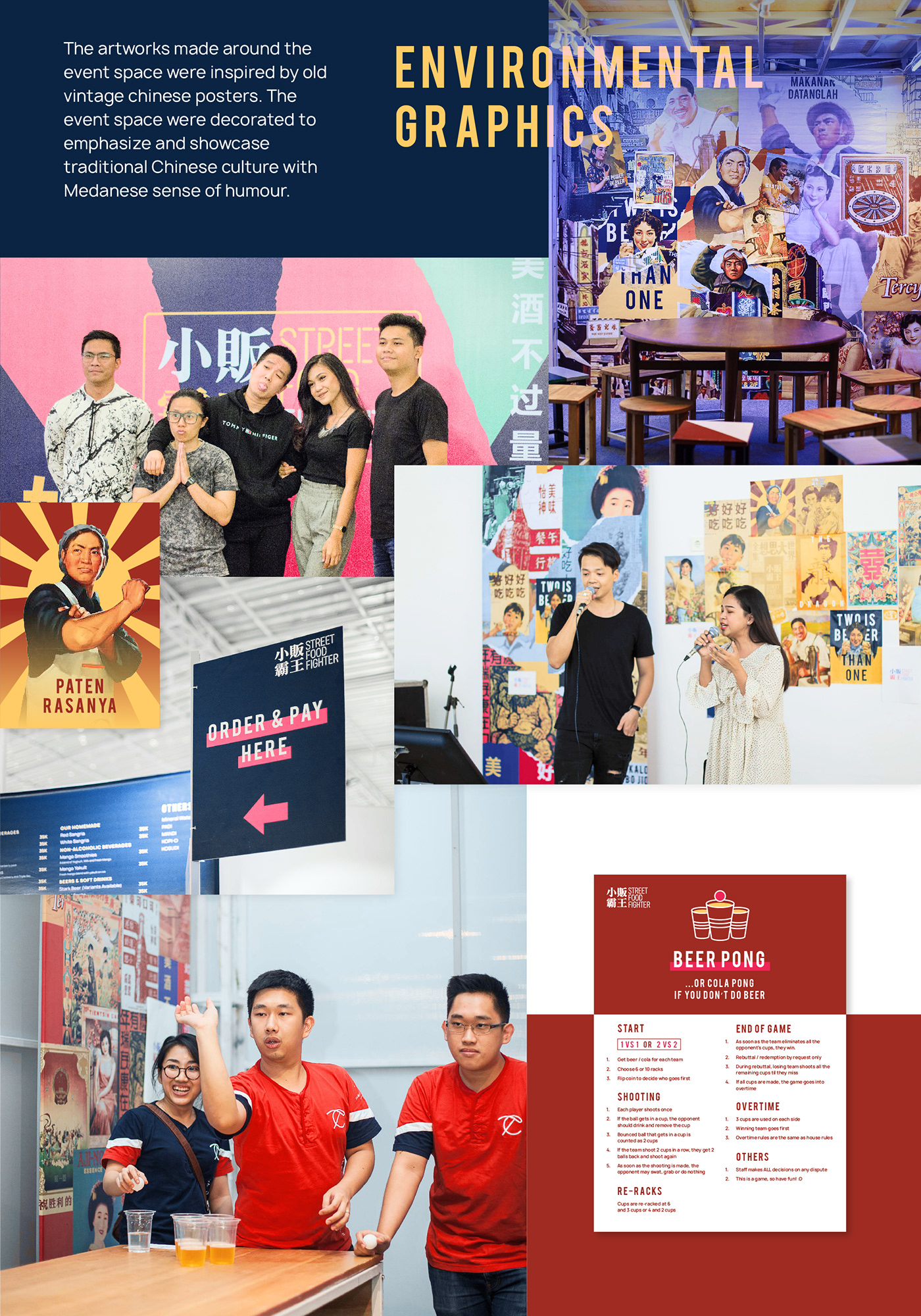 Event branding  identity chinese Colourful  traditional Food  design indonesia culture