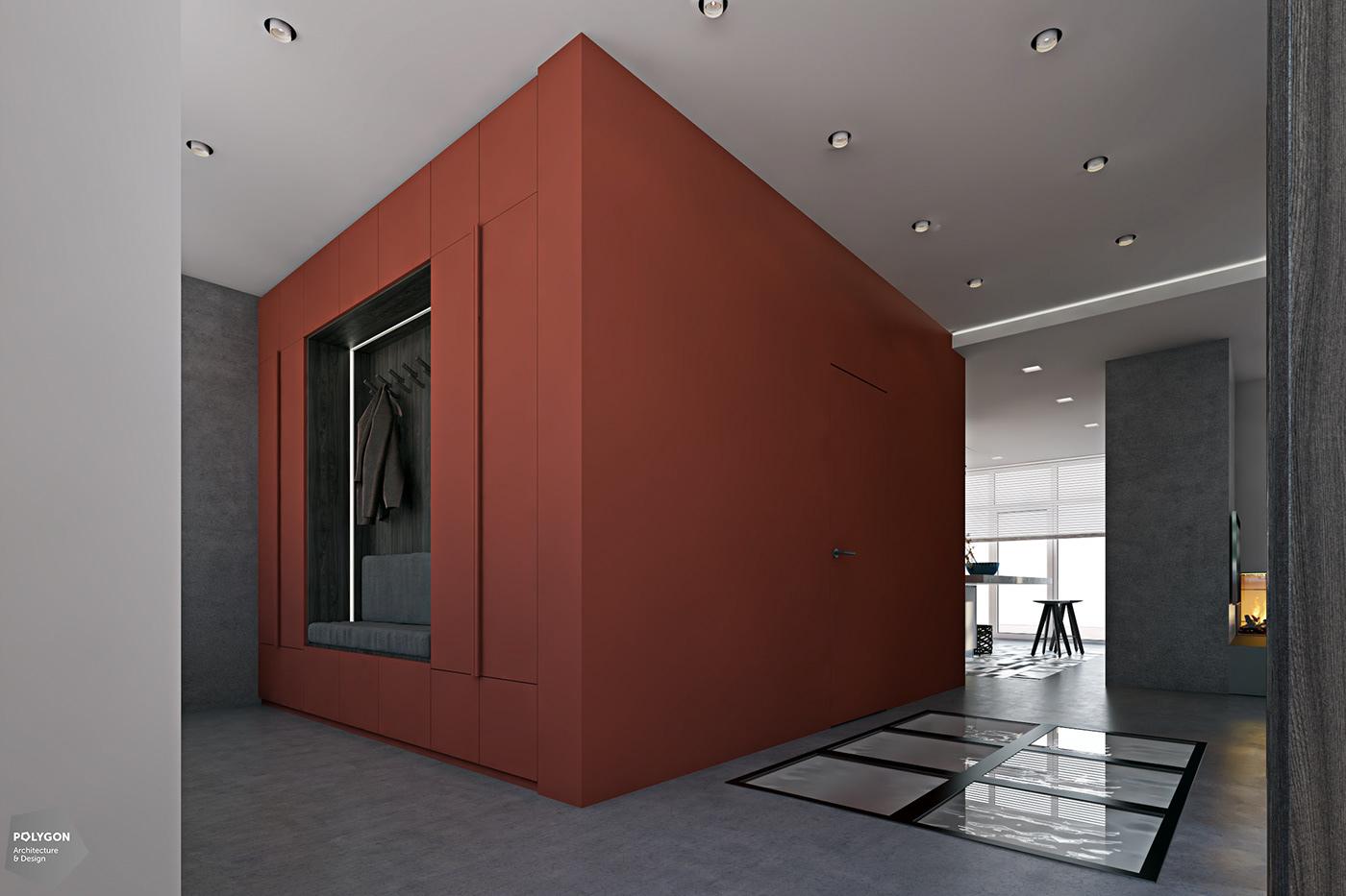 Image may contain: indoor, floor and door