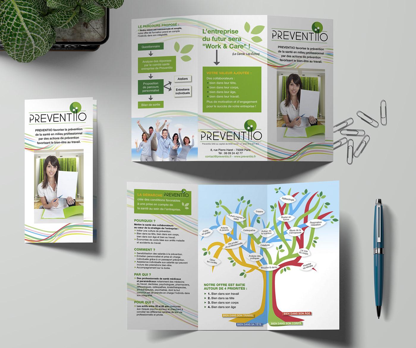 Catalogue flyer logo print santé