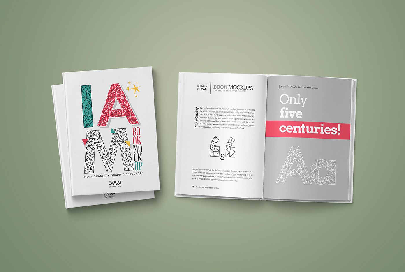 Book Mock-Up / Hardcover Edition - Freebie on Behance