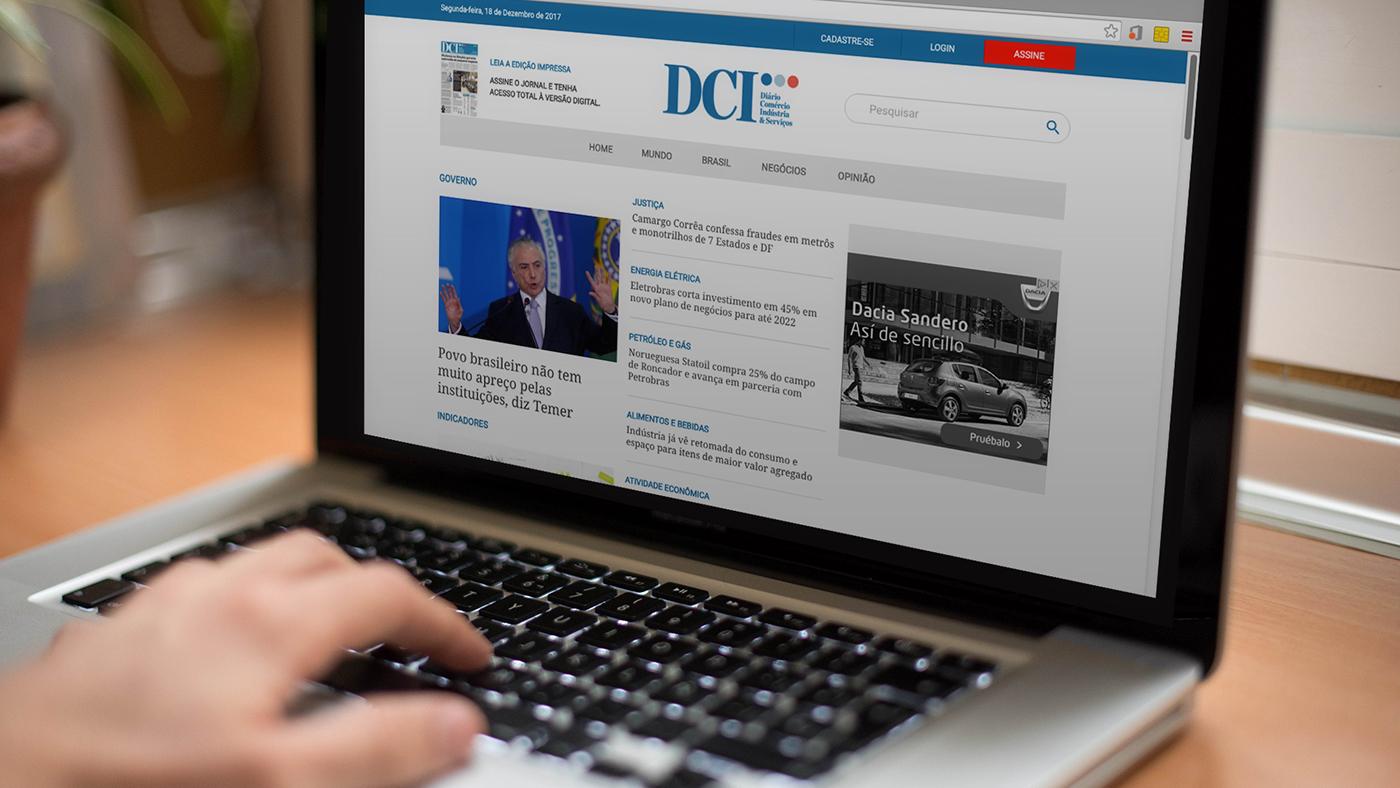 editorial design  Web Responsive DCI são paulo Webdesign HTML CSS mobile