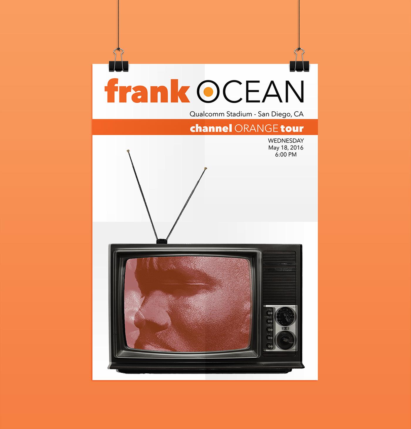 frank ocean concert posters on behance