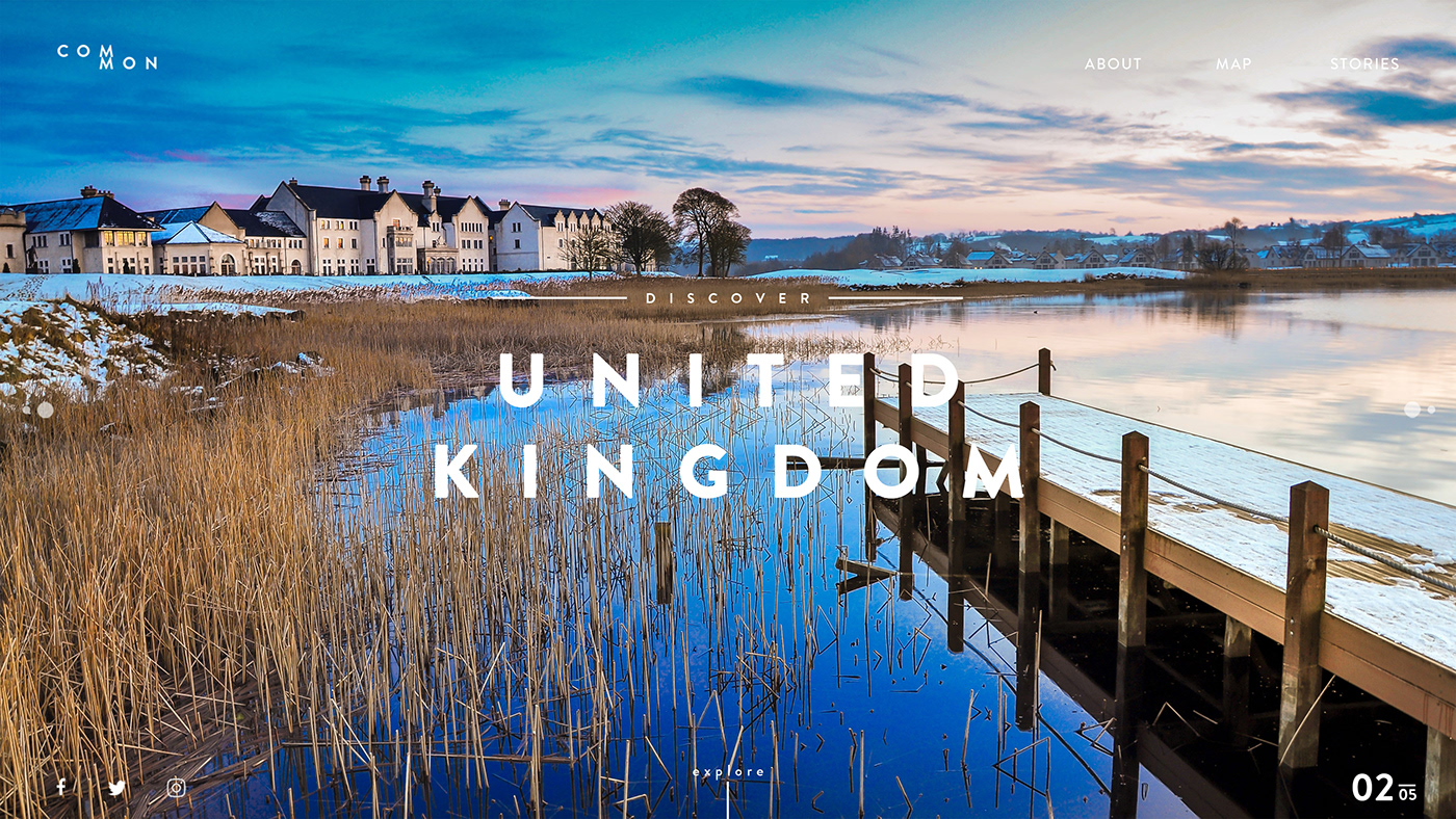 design concept Interaction design  UI/UX United Kingdom unsplash web concept Web Design  Website