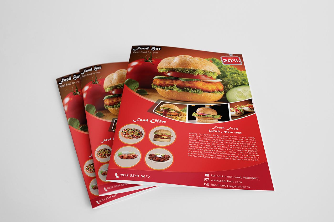 Fast food flyer template design on Behance
