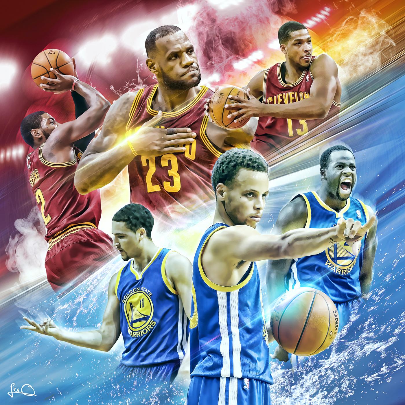 2015 NBA Finals Artwork on Behance