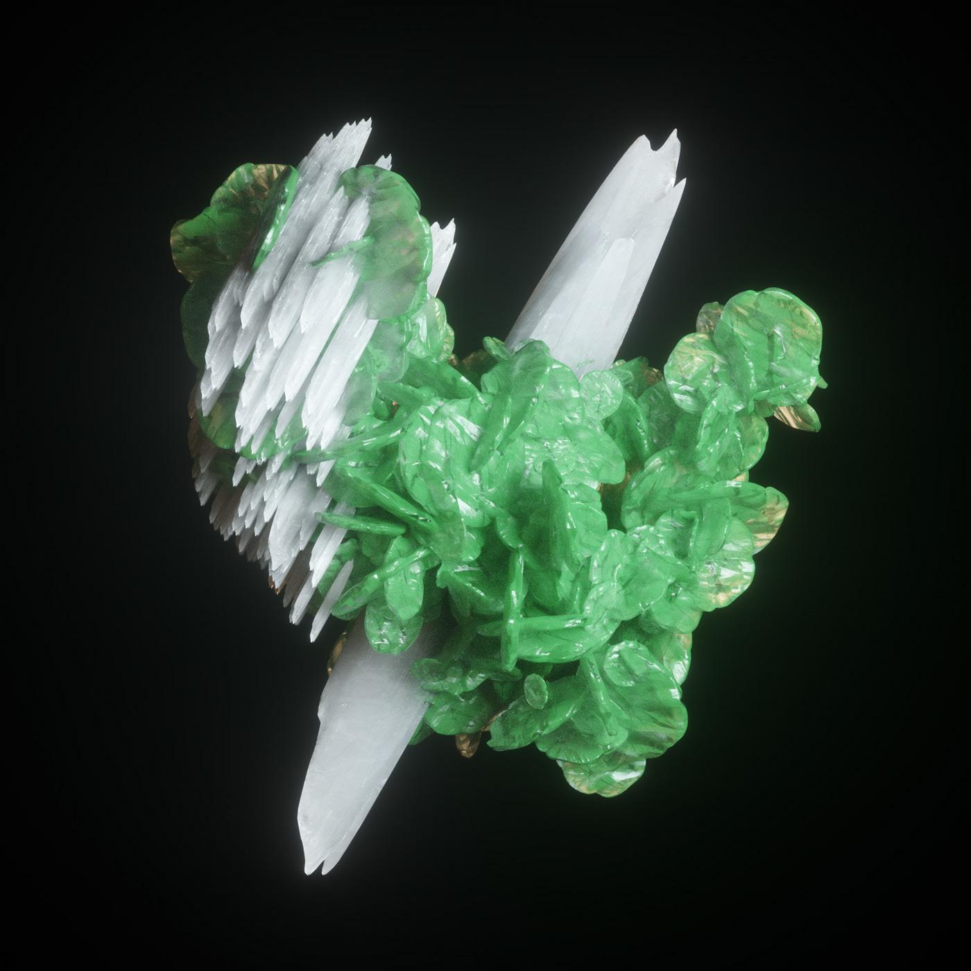 mineral geode 3D Render photoreal octane MoGraph cinema 4d organic science