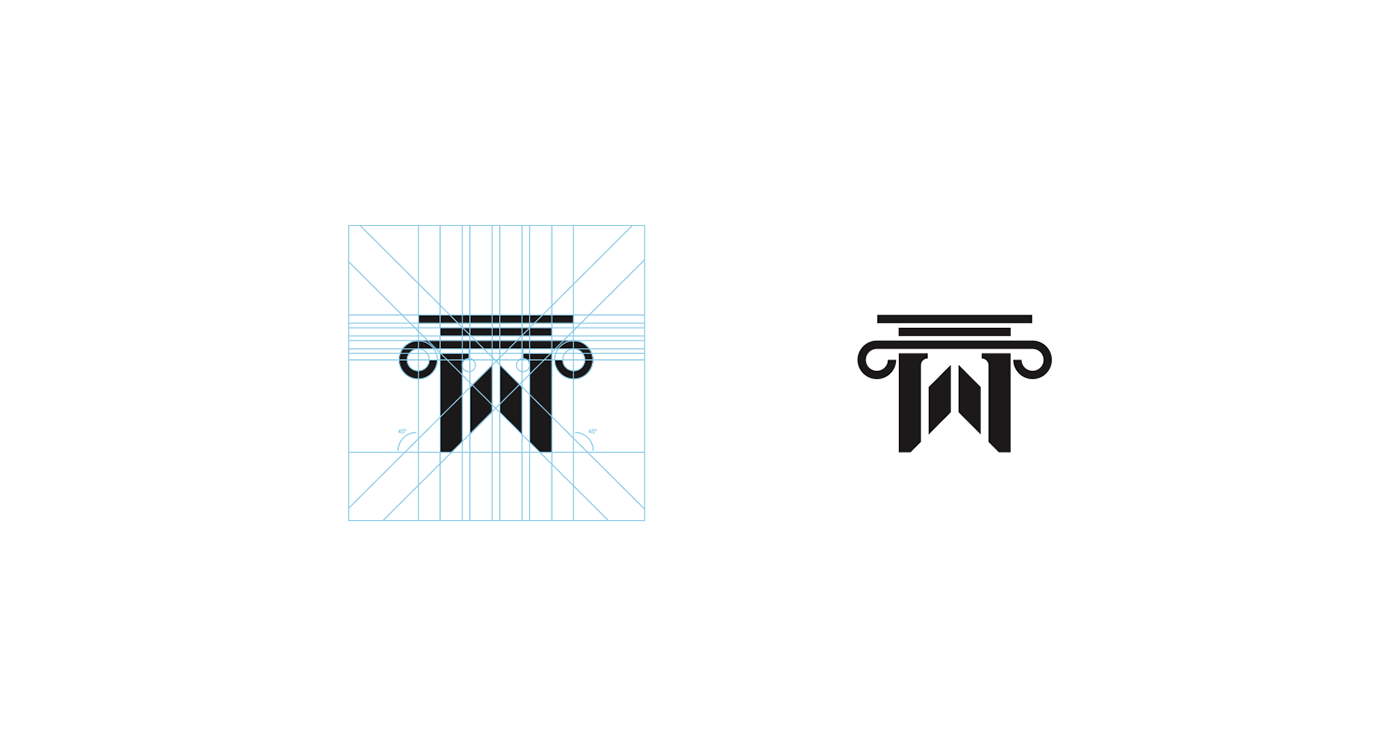 logo brand mark Logotype grid identity Logo Design branding  Logotipo ILLUSTRATION