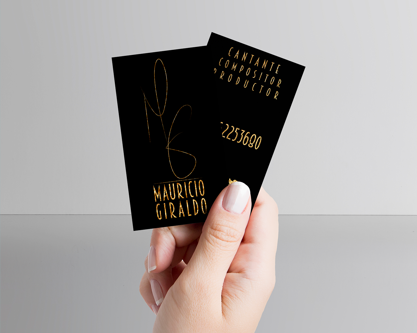 business card card music