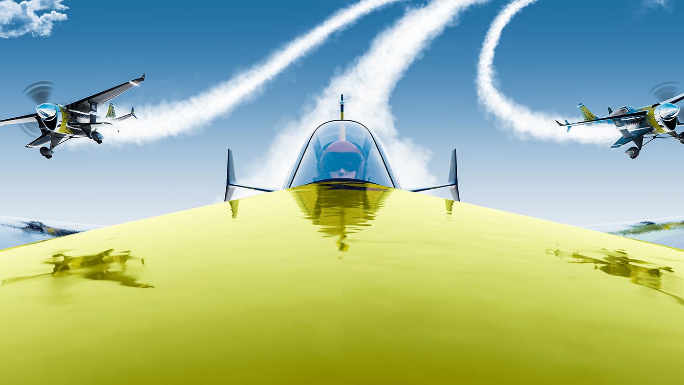 3d modeling Air Race airplane Airrace blender flight raceplane Red Bull RedBull