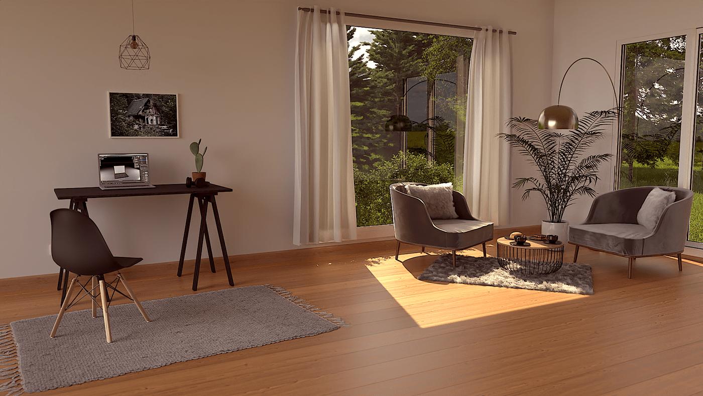 3drendering 3dworks blender Interior interiordesign livingroom