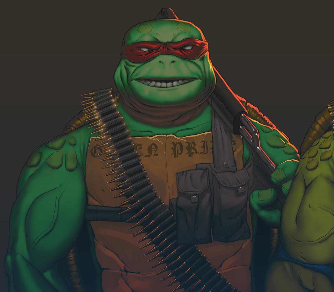 Elderly Mutant Gangsta Turtles On Behance