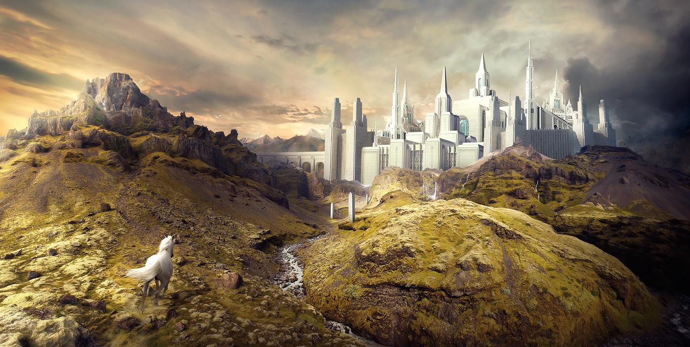 karim,Fakhoury,Montreal,Elysian Citadel,elysium,Castle,Landscape,horse,photoshop,Canada,photomanipulation