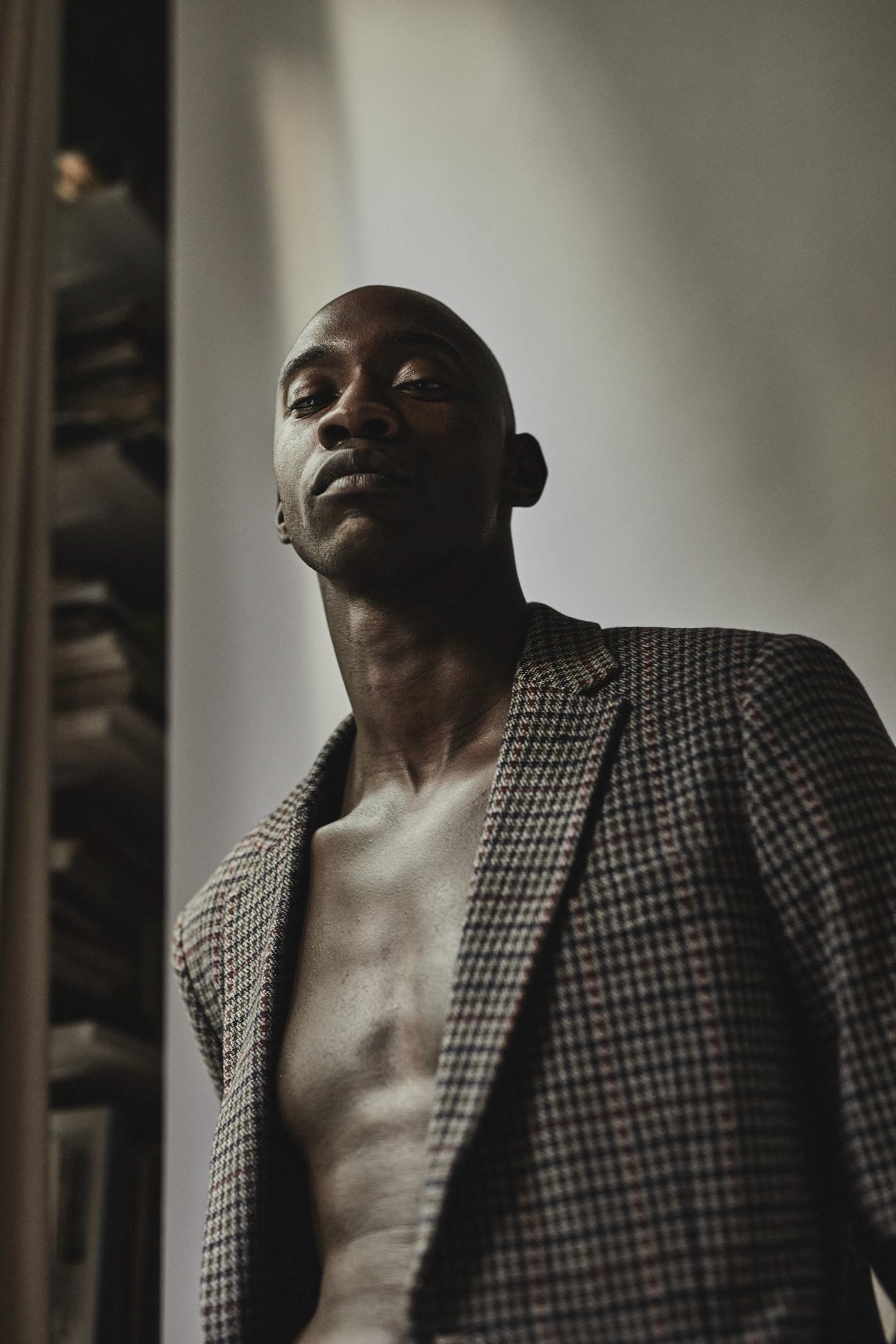 Fashion  fashion portrait male model portrait Test Shoot