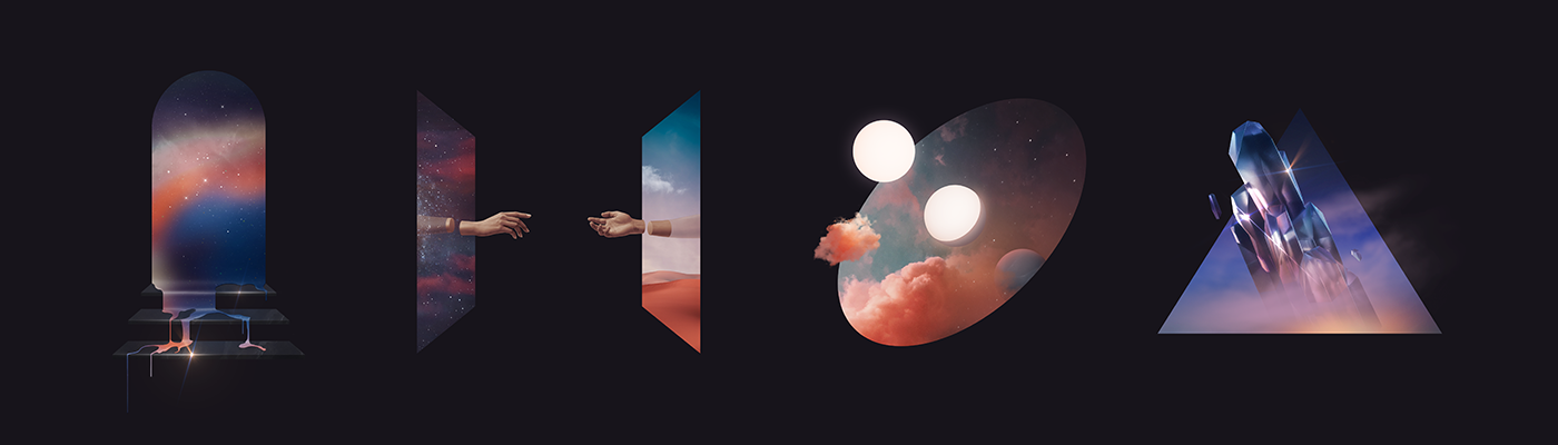 music surreal cover Space  portal edm loop geometry gryffin Album