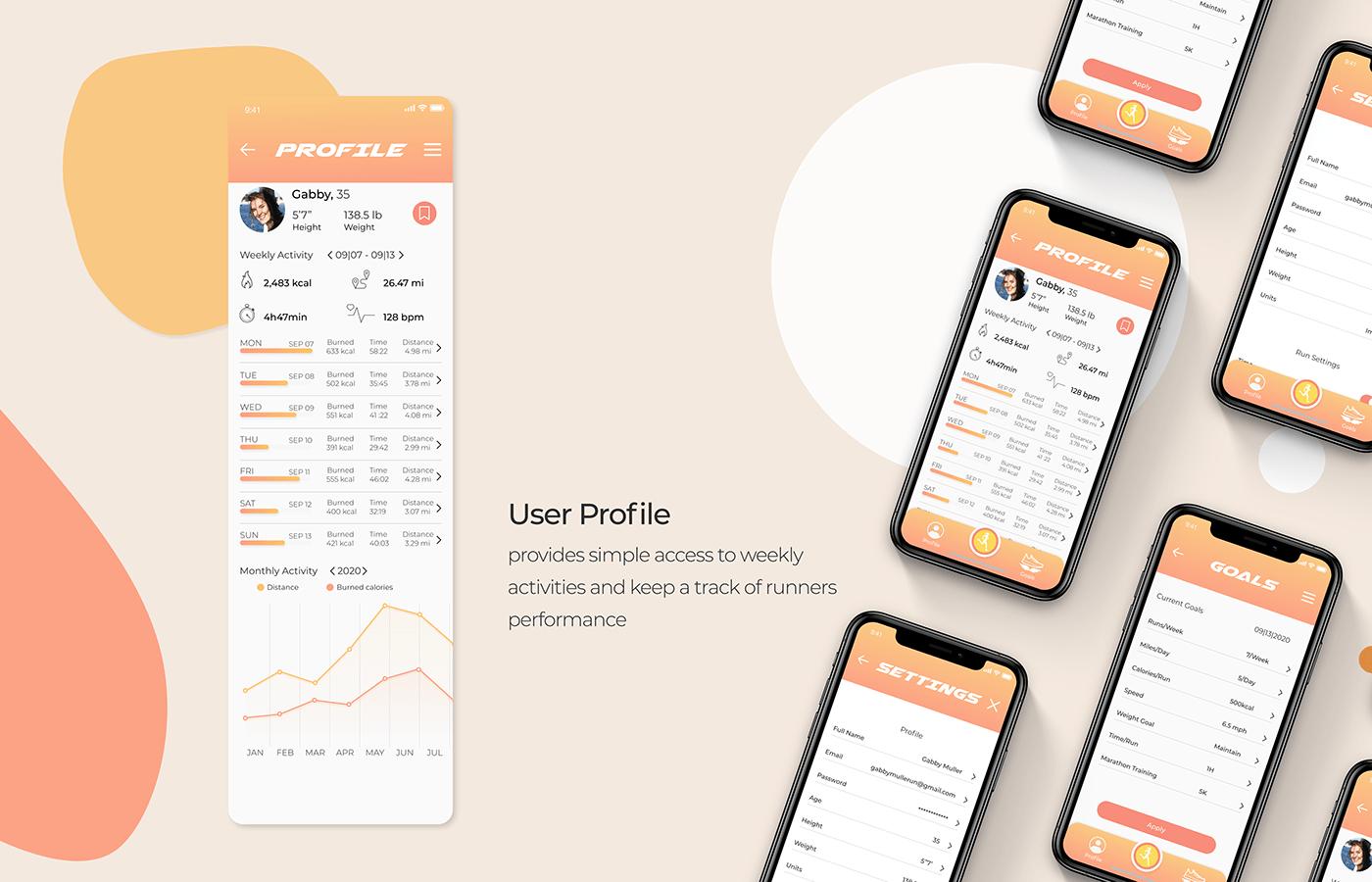 Fitnesses Mobile app running Running App sport tracking app