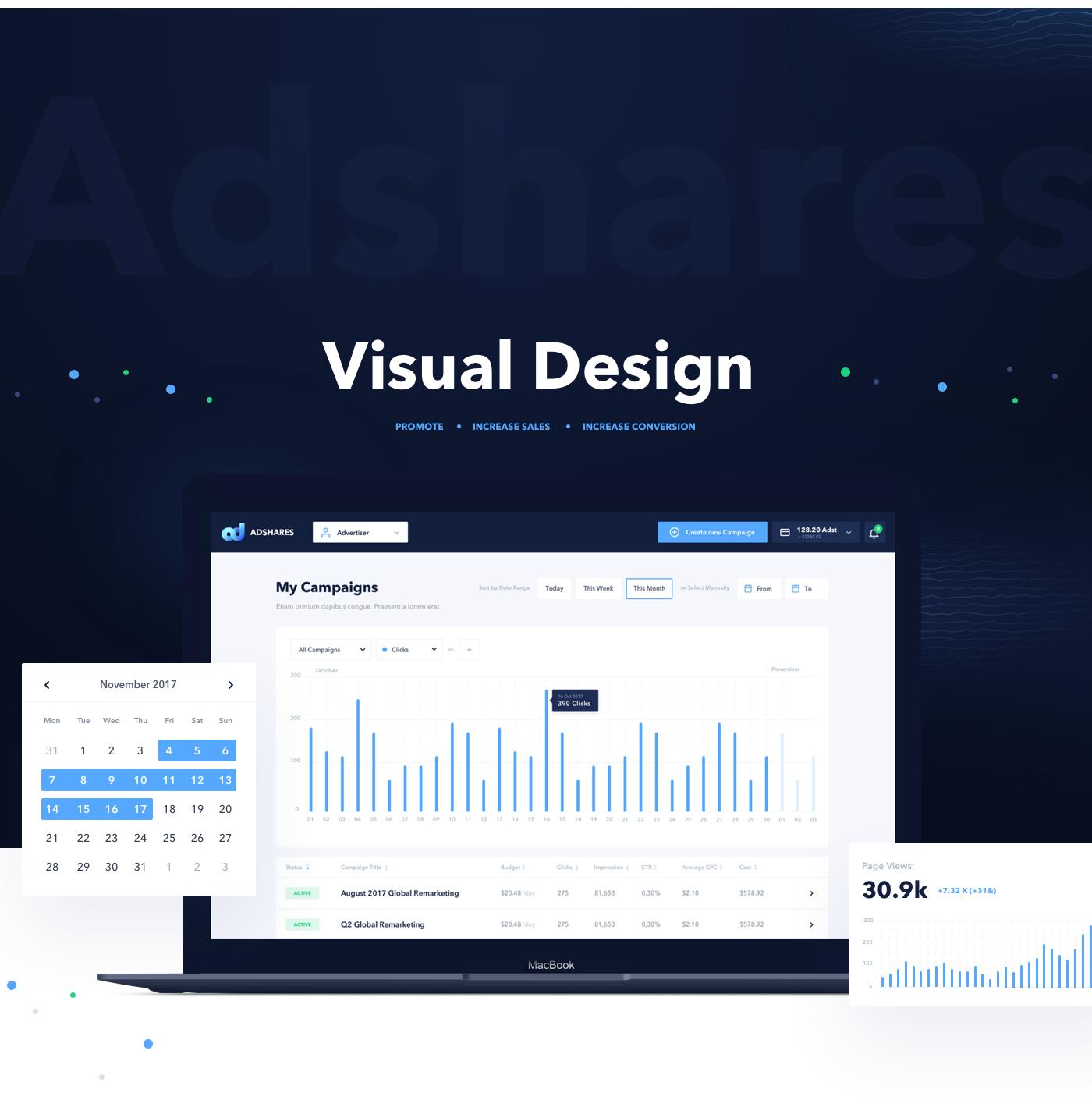 blockchain Advertising  Platform adshares UI ux process product design
