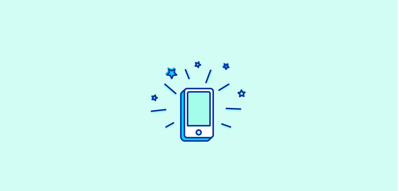Icon icon set minimal colorful Playful Fintech app UI vector