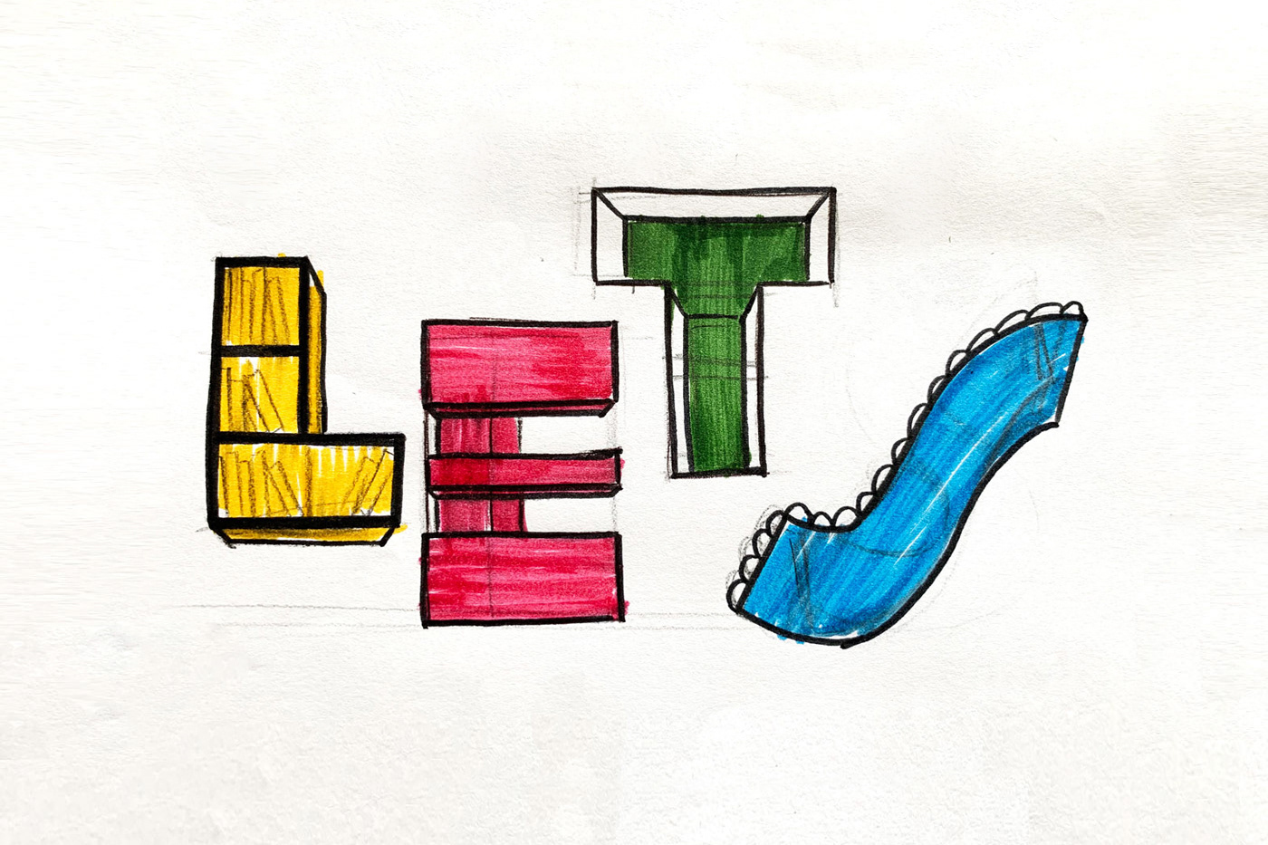 Mixing Typography & Architecture to create LET'S Makerspace