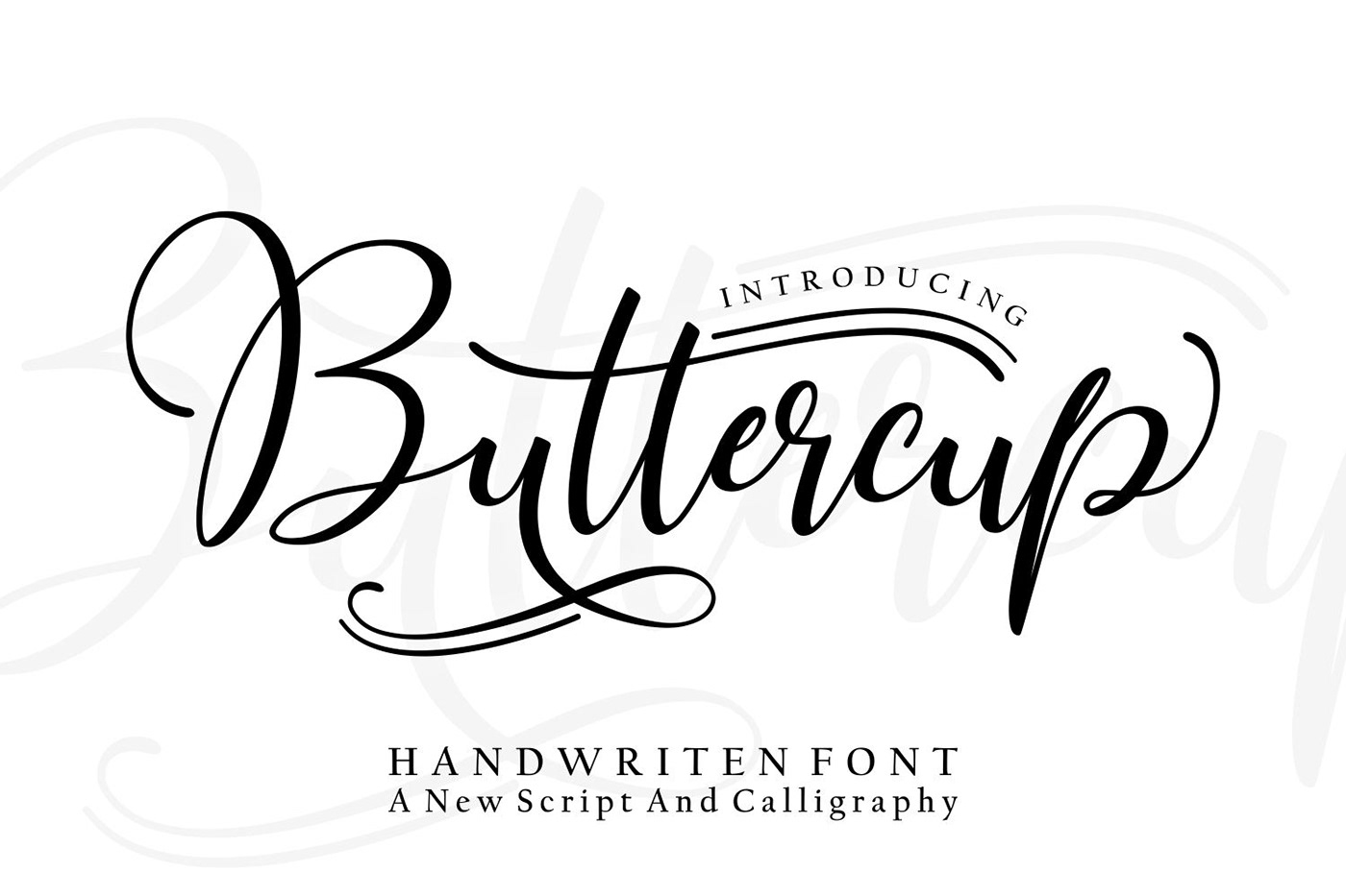 font Script buttercup wedding happy design vintage