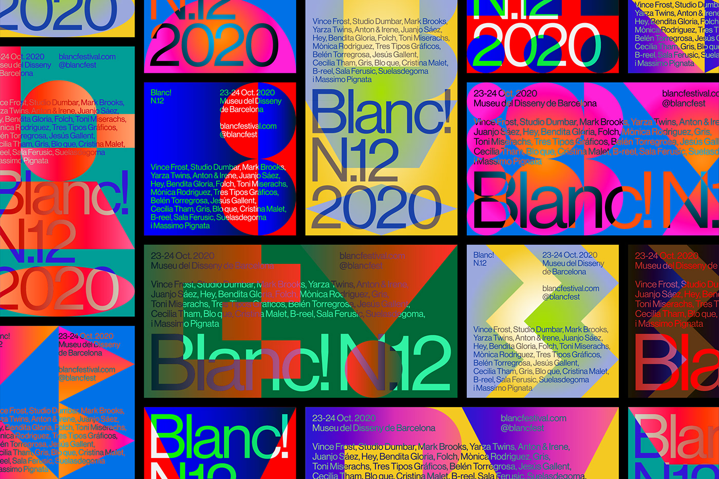 blanc colorfull construction festival geometry playfull system typography