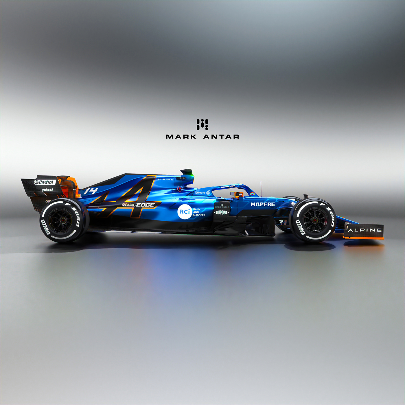 2021 Alpine F1 livery concepts on Behance