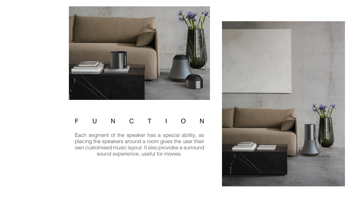 speaker bang and olufsen industrial design  orchestra music modular speakers soundscape Rhino photoshop