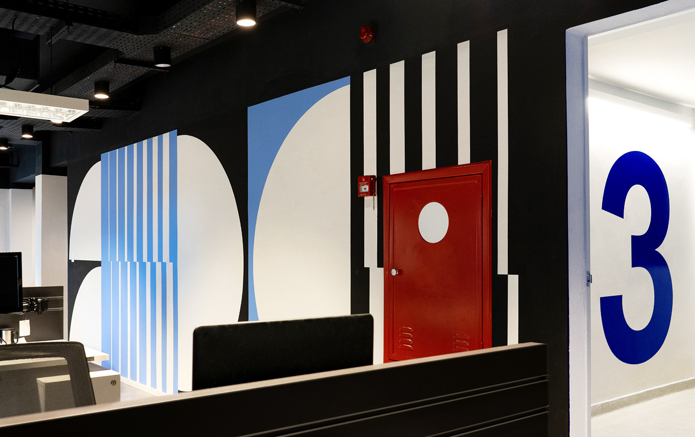 environmental graphic graphic design  interiors Mural Signage wall wayfinding