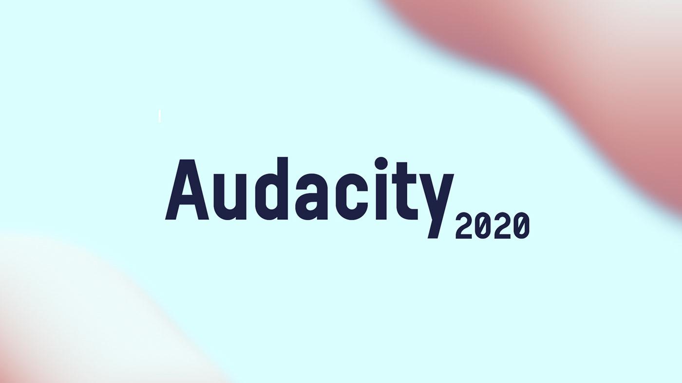 Audacity design gradient GUI logo minimal music new UI