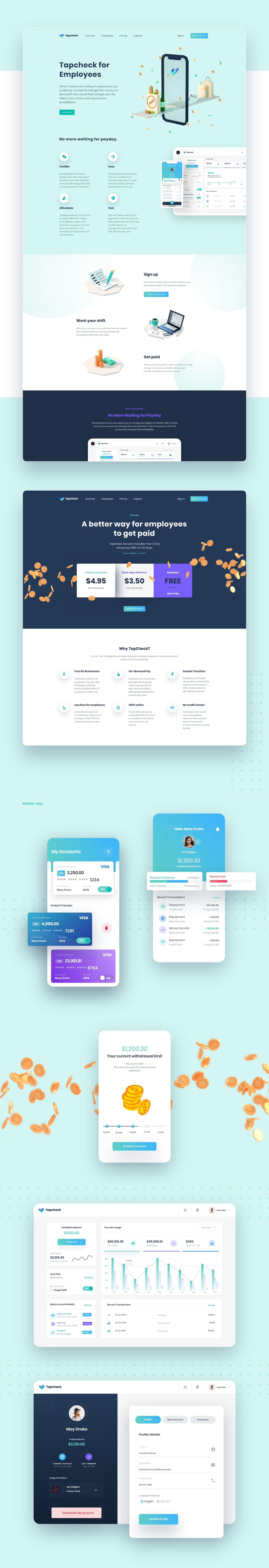 branding  finance app logo Website 3D illustrations