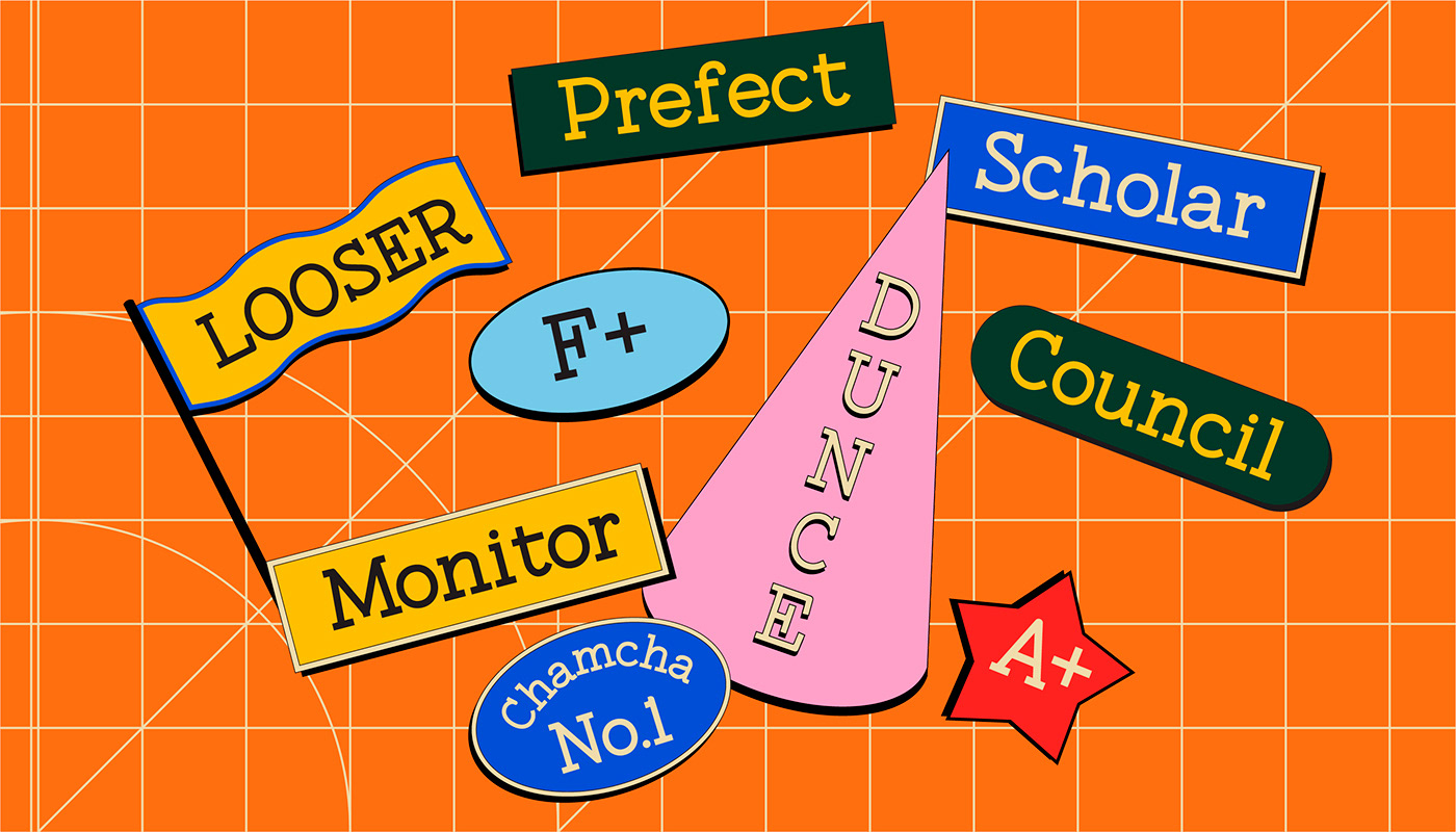 college font free Free font headings school shapes stickers Typeface