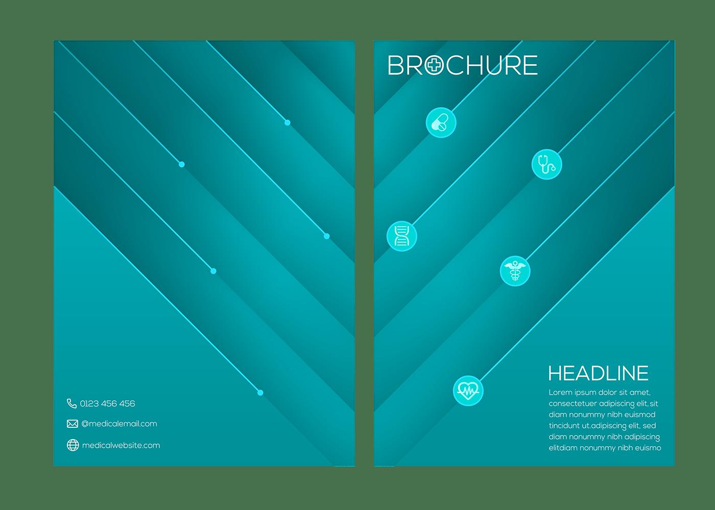 brochure healthcare medical medicine vector