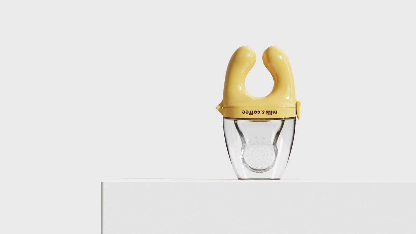 product design  baby concept diseño industrial ergonomic feeder Food  handle industrial design  rendering