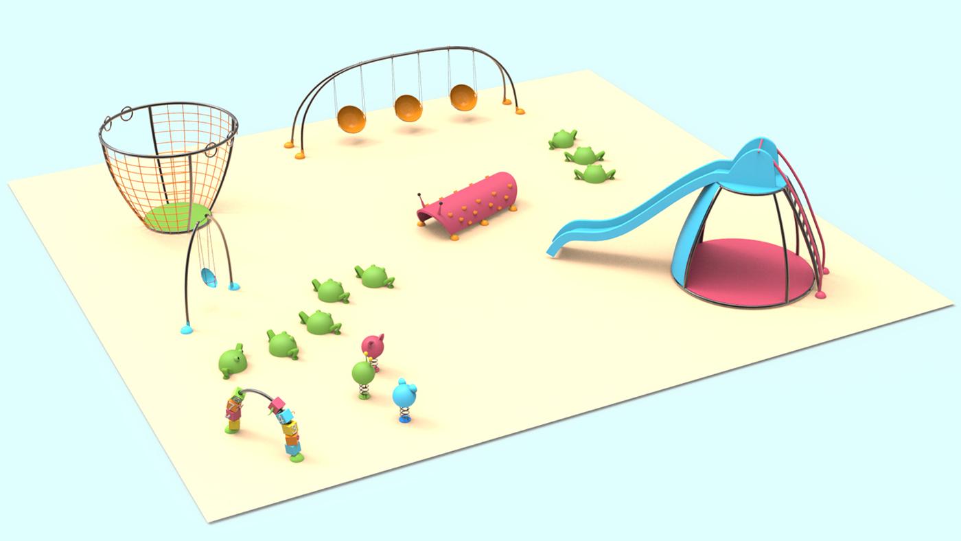 children Playground animals