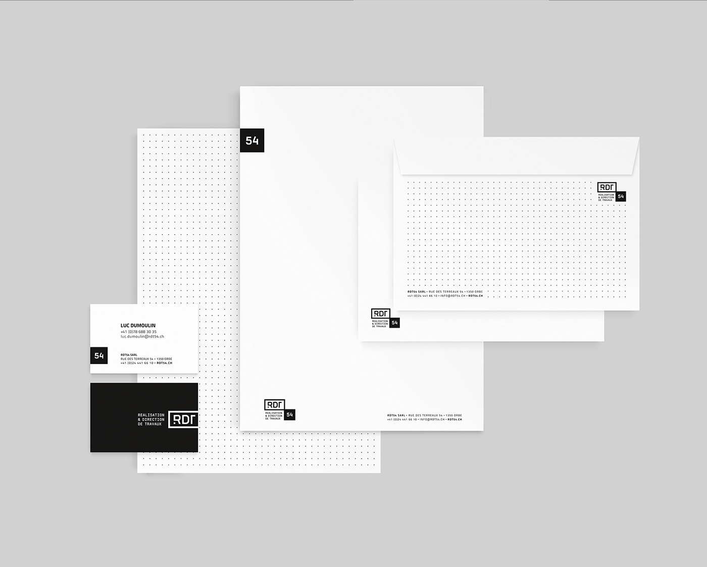 rebranding black corporate identity Monochromatic
