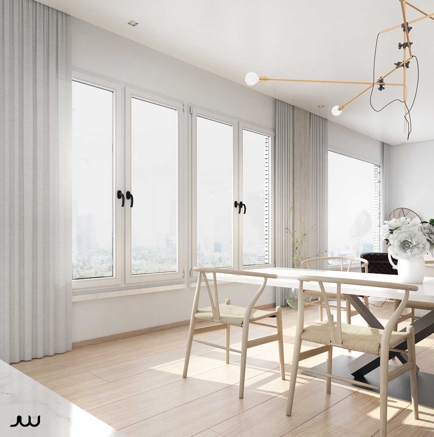 Central park view new york apartment cgi on behance for Central park apartments ny