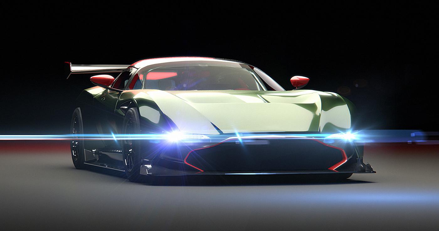 Aston Martin Vulcan Experiments On Behance