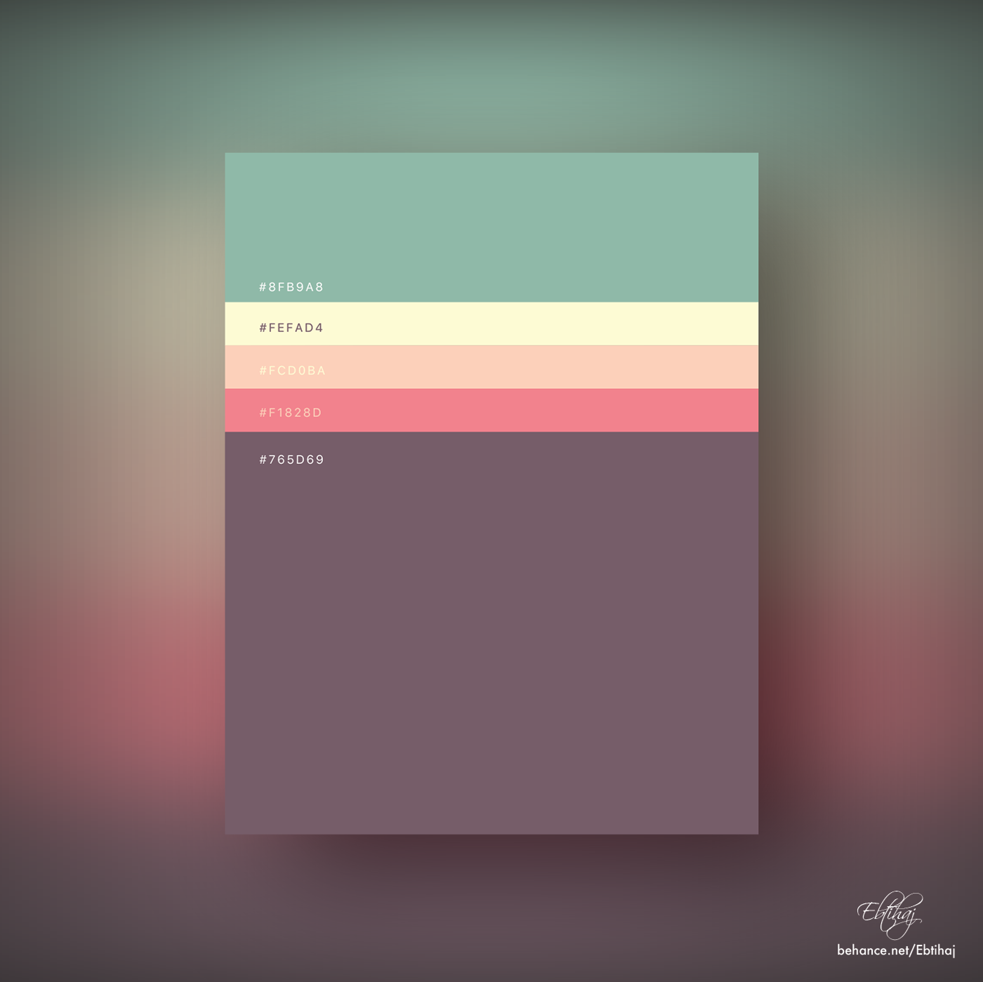 Minimalist Color Palettes 2018 on Behance