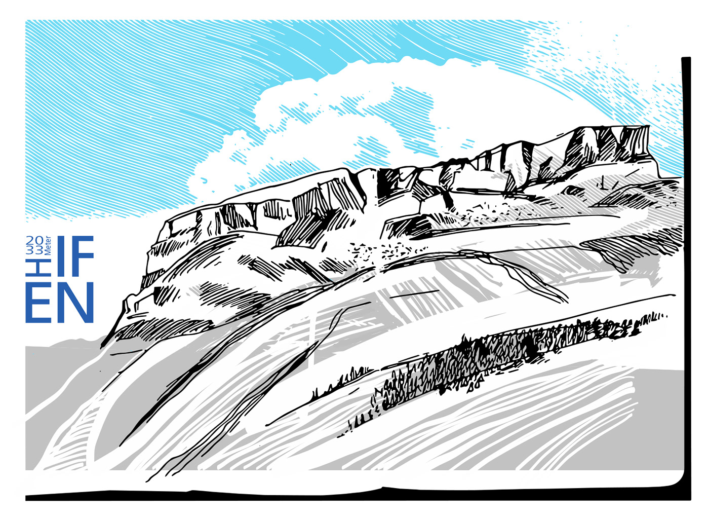 berge mountains drawings travel notes