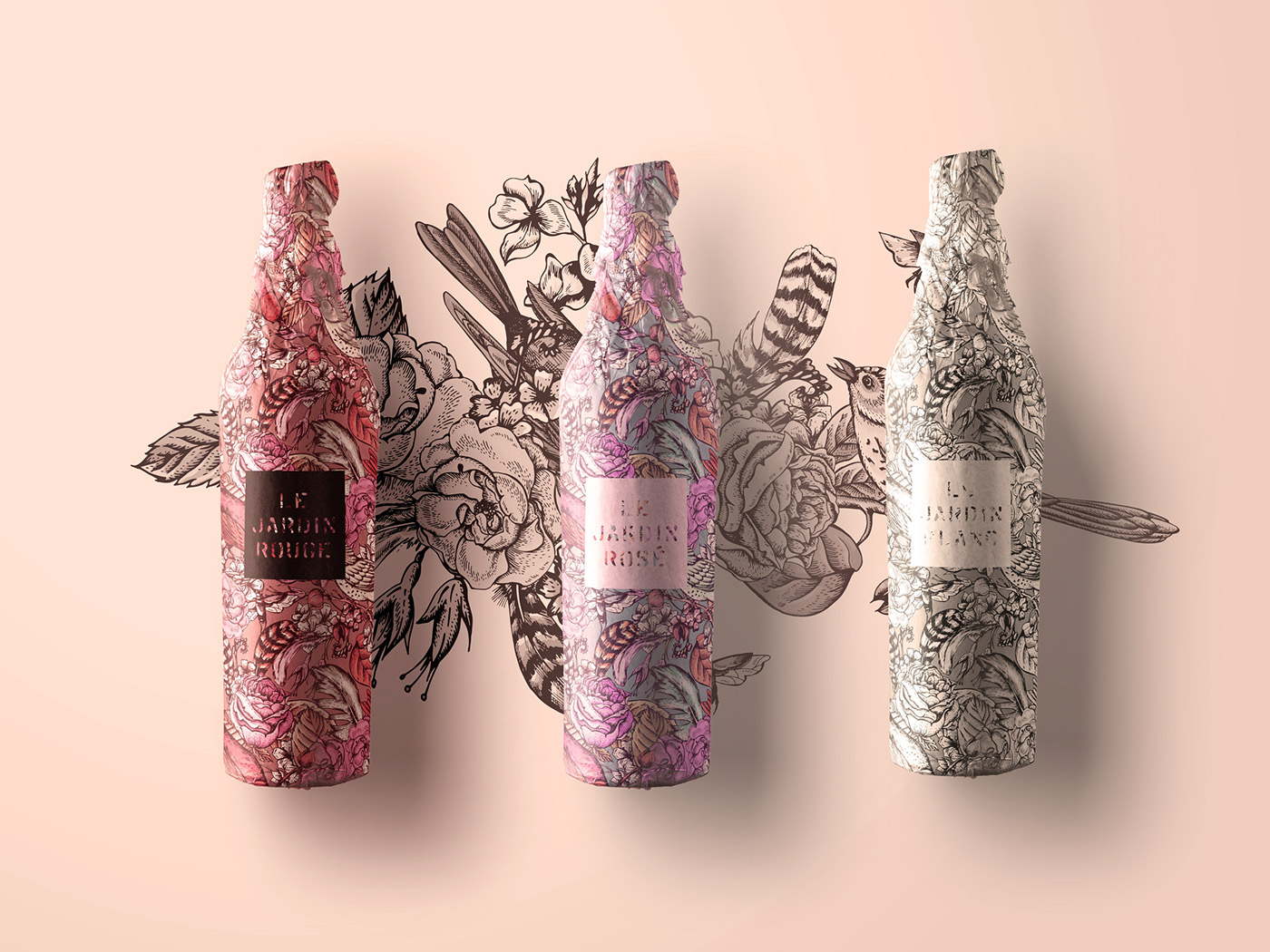 le jardin tattoo wine packaging on behance. Black Bedroom Furniture Sets. Home Design Ideas