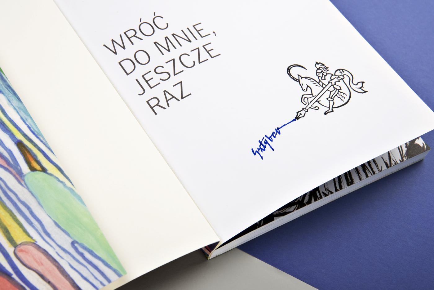 letterpress blue business card stamp identity polish design knight capricorn writer logo