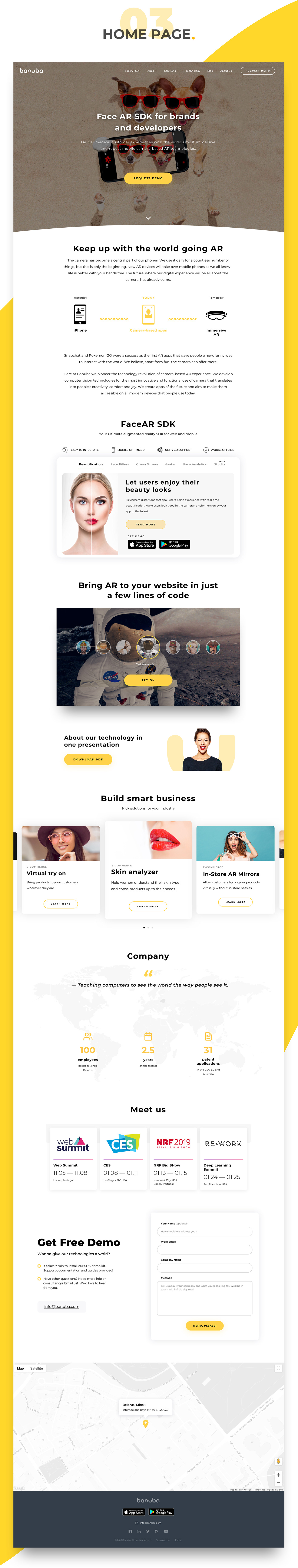 ux UI Website web ar design user experience Web user interface yellow
