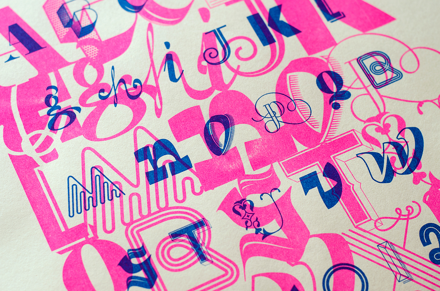 typography   lettering alphabet risograph print poster postcard 36daysoftype font graphicdesign