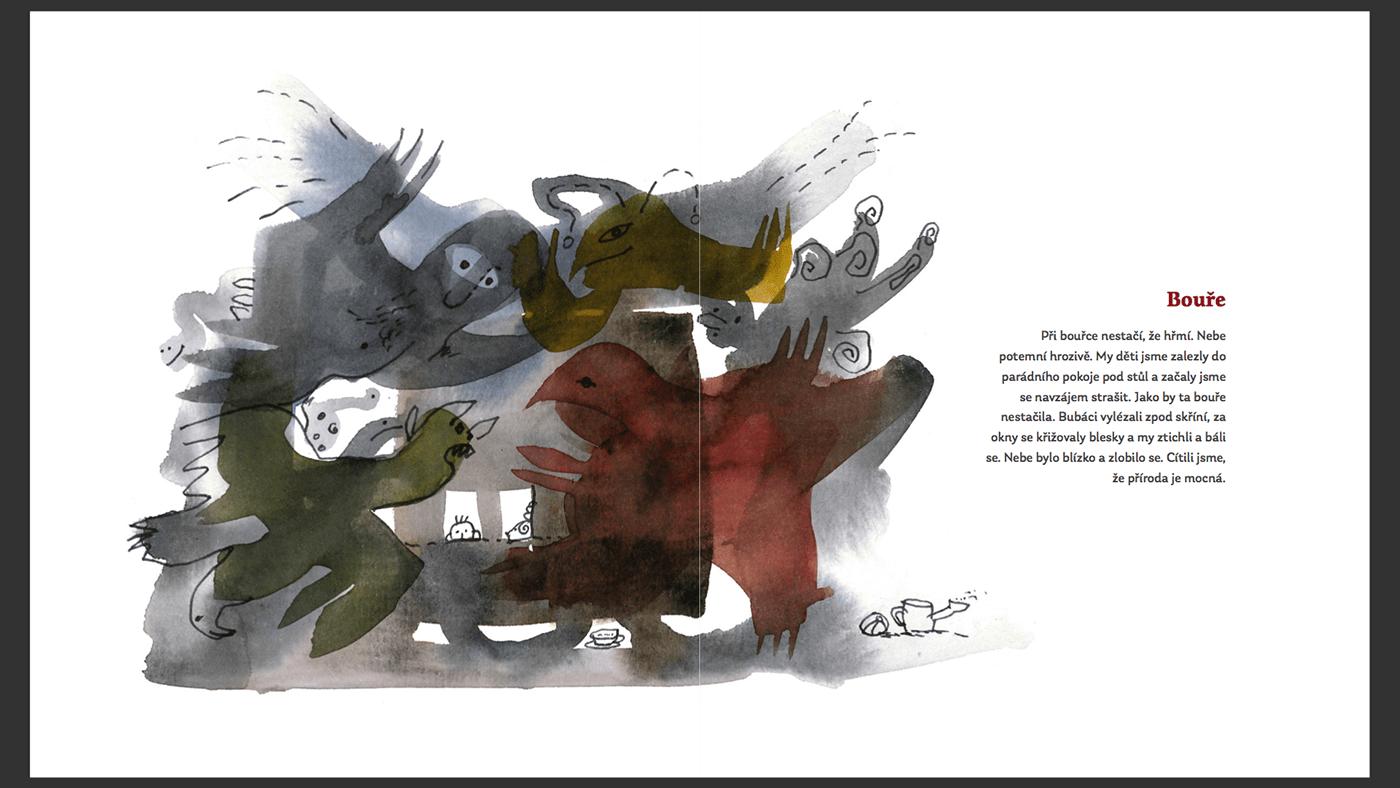 ILLUSTRATION  watercolor book artbook poeticbook visualart art children book memories