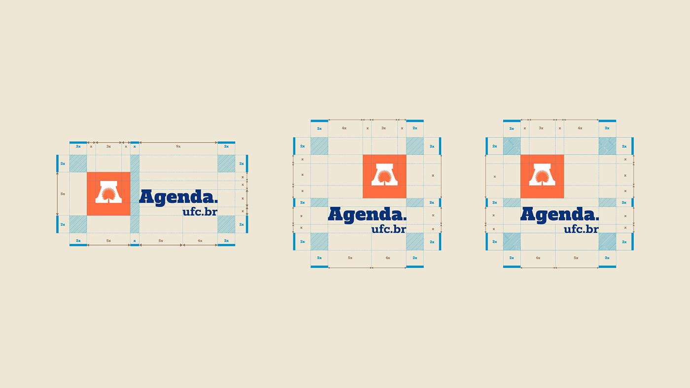 agenda ufc branding  colorful graphic design  ILLUSTRATION  logo