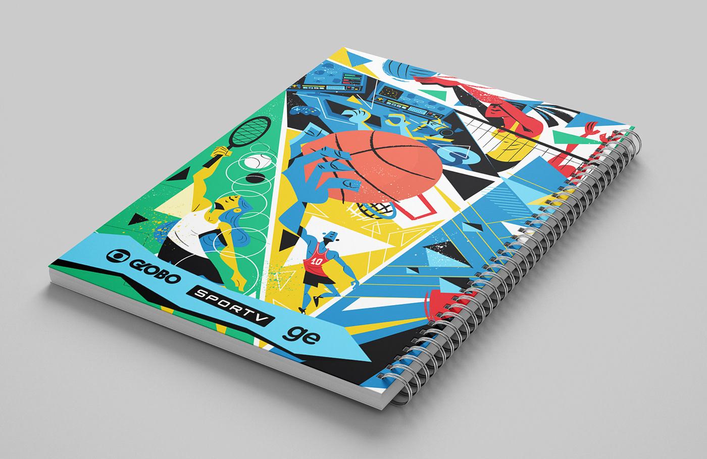 Globo Brazil Brasil football UFC Gamer f1 volei art colors